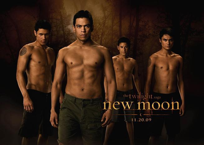 Nový Měsíc, Chaske Spencer, Bronson Pelletier, Alex Meraz, Kiowa Gordon