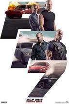 Plakát k premiéře: Rychle a zběsile 7