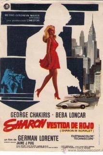 Sharon vestida de rojo