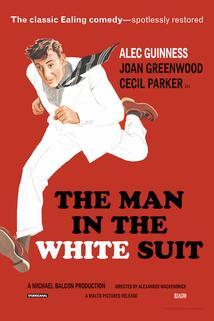 Muž v bílém obleku