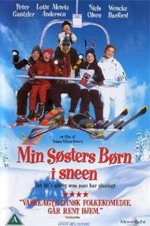 Sestřiny děti na sněhu