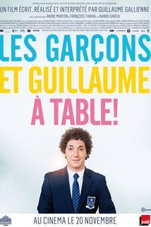 Kluci a Guillaume, ke stolu!