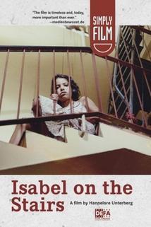 Isabel auf der Treppe
